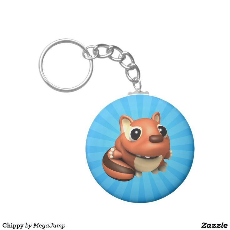 Chippy Basic Round Button Keychain. Regalos, Gifts. #llavero #keychain