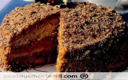 Balkabaklı Yılbaşı Pastası resimli yemek tarifi, Pastalar tarifleri