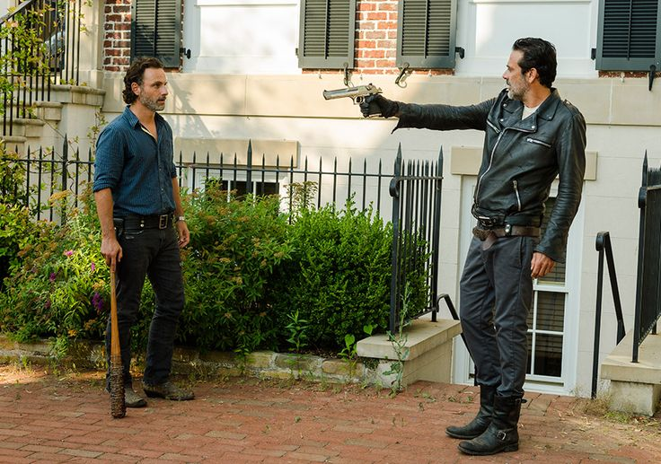 Rick Grimes (Andrew Lincoln) and Negan (Jeffrey Dean Morgan) in Episode 4 Photo by Gene Page/AMC