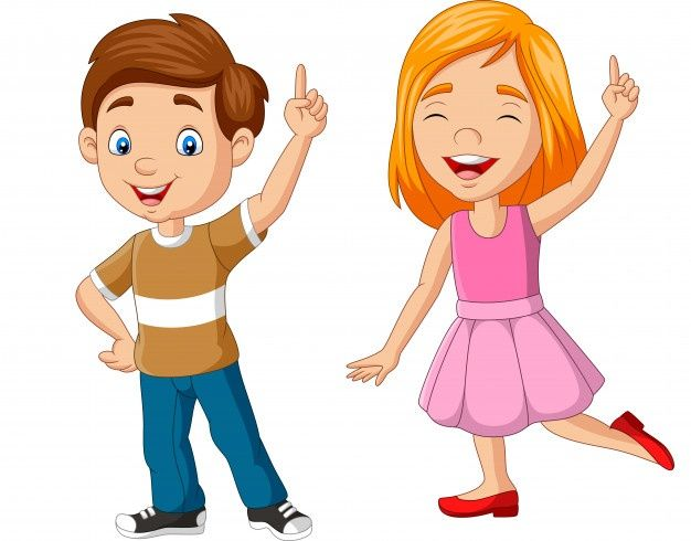 Dibujos Animados Niño Y Niña Mostrando N Premium Vector Freepik Vector Escuela Personas Niños Dibujos Animados Ilustración De Gente Dibujos Para Niños