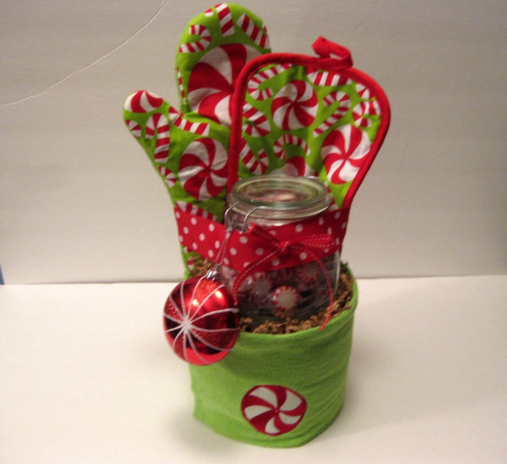 Peppermint Holiday Kitchen Towel Cake 30 00 Via Etsy