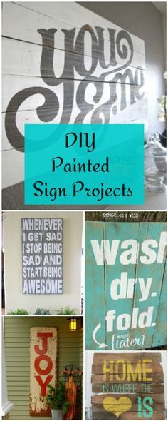 DIY Painted Sign Projects • Tutorials and ideas!