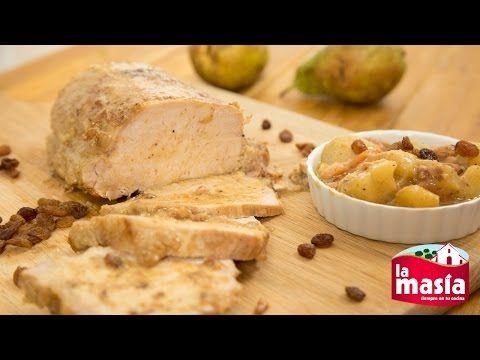 Lomo de #cerdo con peras y pasas. Un guiso con un toque especial que os encantará. La #receta, en el blog.