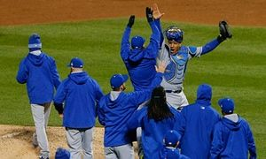 World Series 2015: Royals 5-3 Mets, Game 4 – as it happened! -  The Kansas City Royals are a win away from a championship after their 5-3 victory over the New York Mets in Game 4 of the World Series - Hunter Felt Saturday 31 October 2015 23.50 EDT
