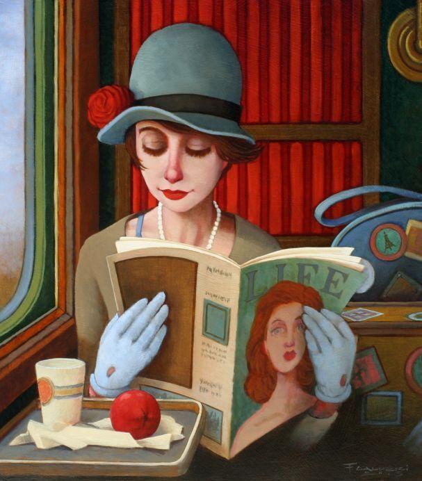 Lectora muy chic (ilustración de Fred Calleri)