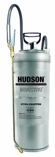 Hudson 91704CCV Industro 3.5 Gallon Sprayer Stainless Steel Viton Extreme by Hudson. $175.91. Separate opening allows filling without removing pump. Spray Thick Curing Compound Sprayer sprays up to 35% solids. Stainless Steel tank. Viton Extreme seals for added resistance to extreme chemicals. Goodyear Horizon Extreme chemical resistant hose. For home, lawn and garden rely on Hudson sprayers to protect against insects, weeds and plant diseases. We also make life ...
