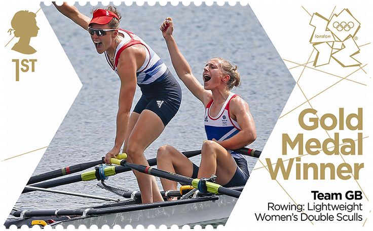 Katherine Copeland & Sophie Hosking Rowing #SpecialStamp from 2012  'Gold Medal Winners London Olympic Games'  #RoyalMail