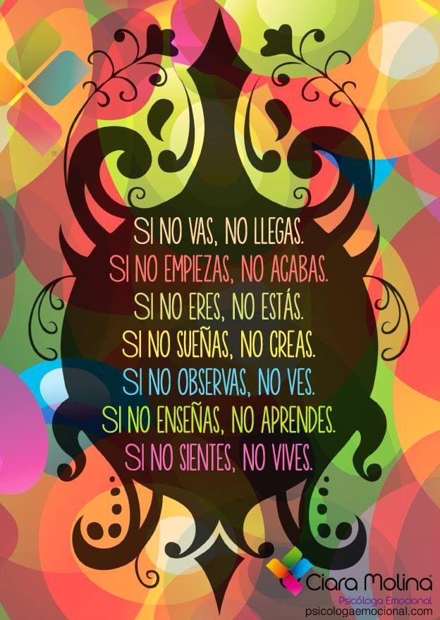 frases, español, vida, si no, palabras, colores