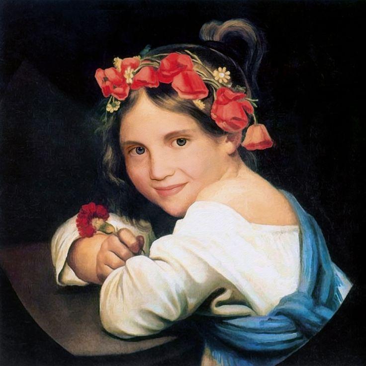 Portraitstudie - Nichte mit 11
