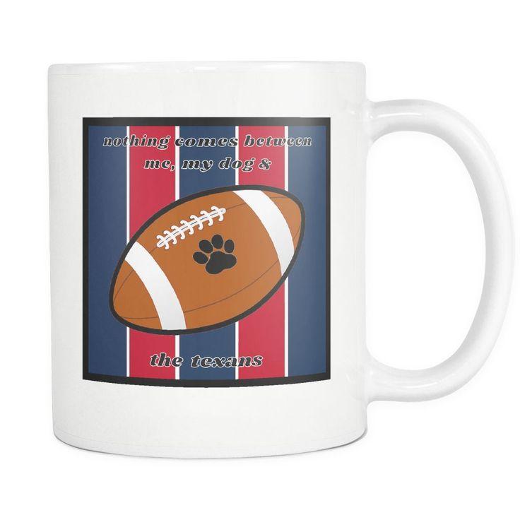 Dog Themed Mug - NFL Houston Texans On White