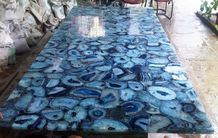 Blue Agate Gemstone Slabs {Contact For Prices and Sizes}