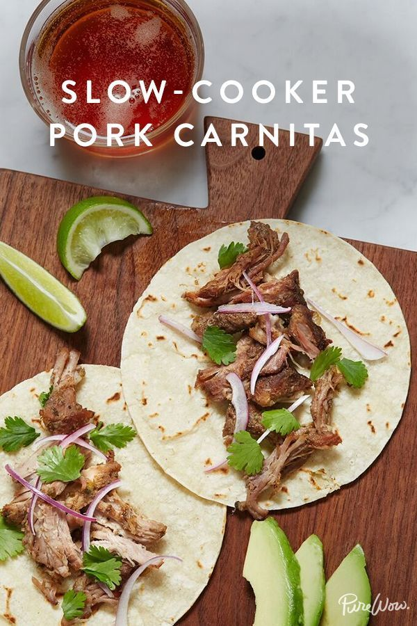 Slow-Cooker Pork Carnitas. Also known as the best taco filling ever.