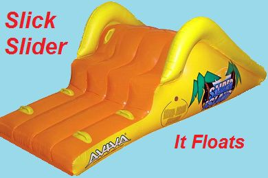 Slick Slider Island Inflatable Above Ground Water Slide