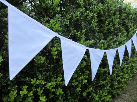 Crisp White Wedding Bunting | LittleStarrs |