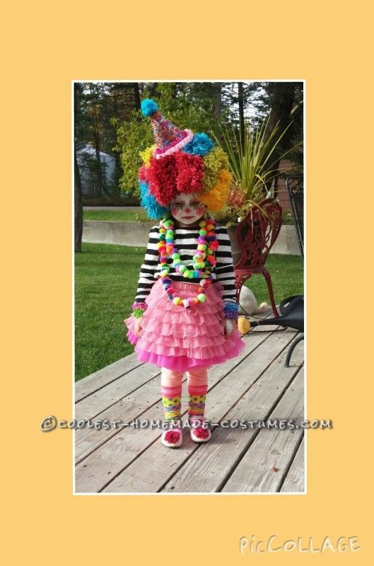 Zelfgemaakte Clown en Mime Familie Kostuums - 2