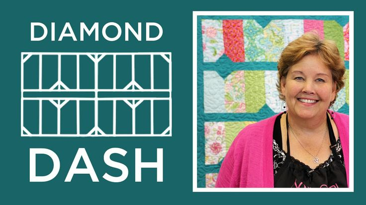 The Diamond Dash Quilt: Easy Quilting Tutorial with Jenny Doan of Missou...