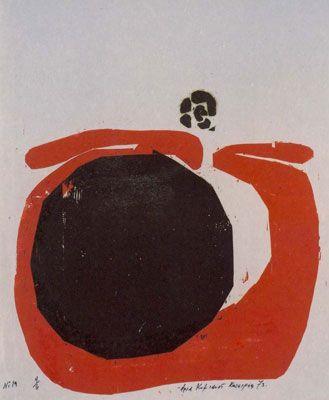 Composition No 19. Woodcut. 1973. Aria Komianou.