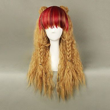 Red Bang Flaxen 65cm Punk Lolita Puff Wig - USD $ 29.99