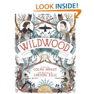 """Wildwood  Prue McKeel's life is ordinary. At least until her baby brother is abducted by a murder of crows. And then things get really weird.  You see, on every map of Portland, Oregon, there is a big splotch of green on the edge of the city labeled """"I.W."""" This stands for """"Impassable Wilderness."""" No one's ever gone in—or at least returned to tell of it.    And this is where the crows take her brother.    So begins an adventure that will take Prue and her friend Curtis deep into the Impassabl..."""