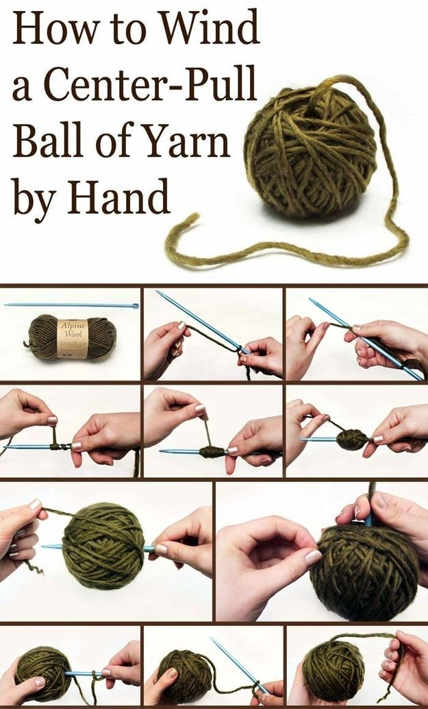 Learn to wind a center-pull ball by hand. | 26 Clever And Inexpensive CraftingHacks I have to try this also
