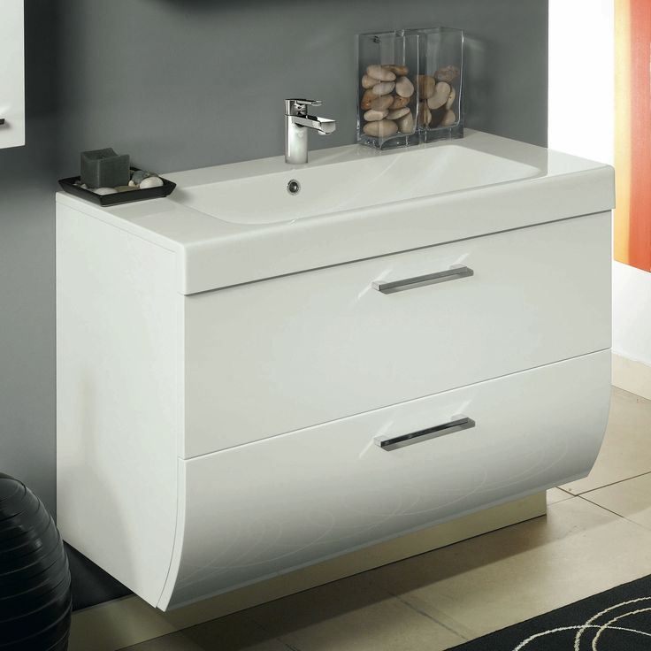 Iotti New Day 2 Drawers Vanity Cabinet with Self Rimming Sink NN1C