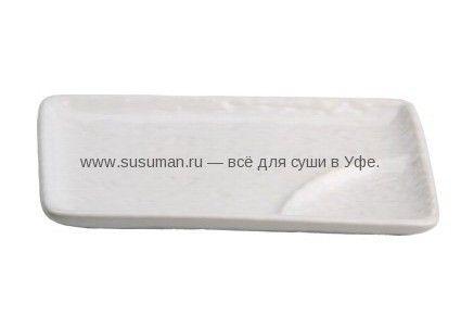 Тарелка с подсоусником белая керамика   Продукты для суши и роллов в Уфе. Рецепты, доставка. 89173425893