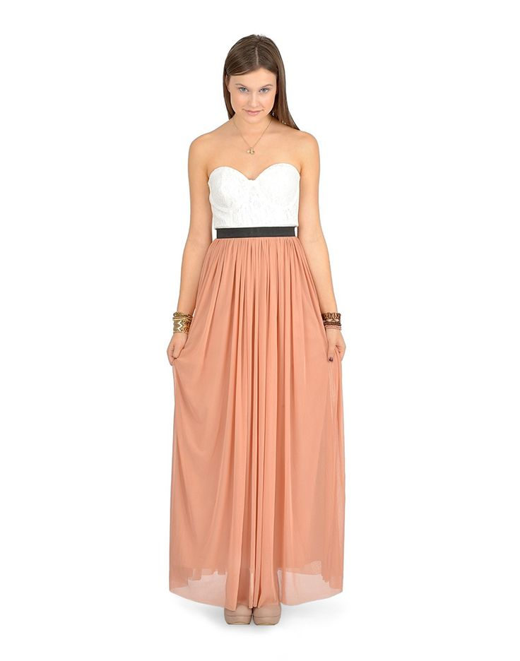 Long lace bust dress - Dresses - Clothing - $34.50