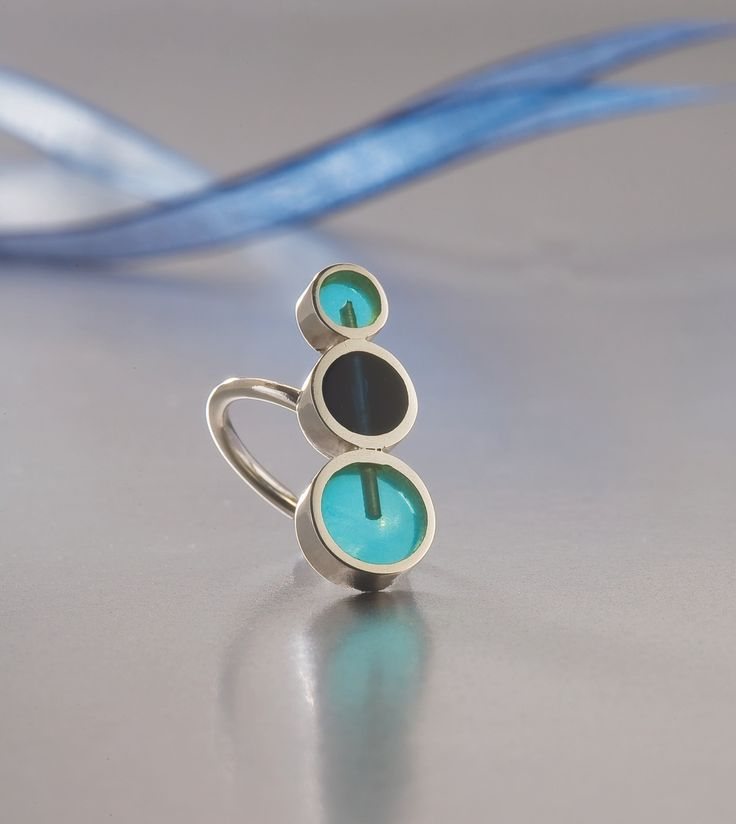Ring Silver Colored resin