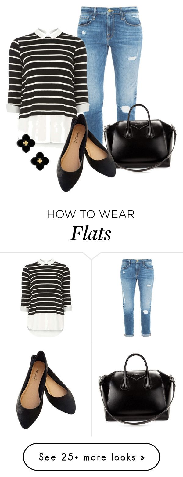 """Professional Wardrobe for All Ages Outfit: 33"" by vanessa-bohlmann on Polyvore featuring Frame Denim, Dorothy Perkins, Givenchy, Wet Seal and Tory Burch"