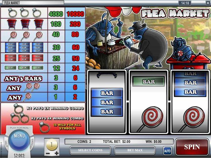 Lasst uns drehen absolut kostenlos Spielautomat Flea Market - http://spielautomaten7.com/flea-market/