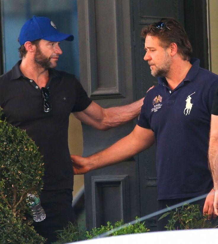Hugh Jackman - Russell Crowe and Hugh Jackman Grab Coffee in NYC