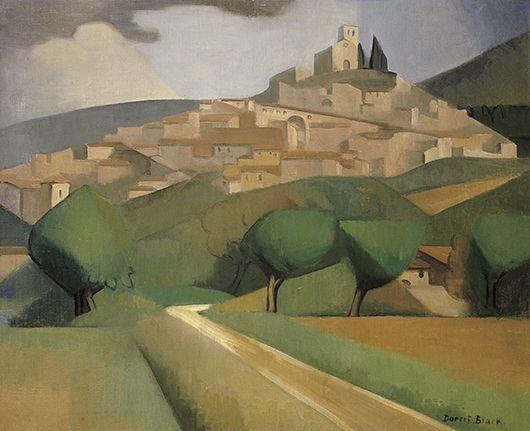 Dorrit Black, Australia, 1891 ‑ 1951, Mirmande, c.1928, Mirmande, France, oil on canvas, 60 x 73.8 cm -