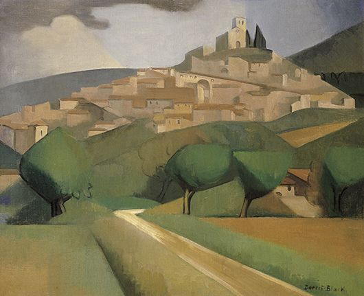 Landscape by Dorrit Black an example of the Golden Mean: