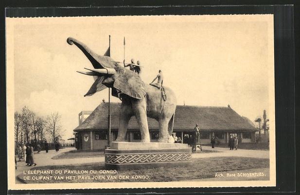 Vintage postcard, Brussels Exposition, 1935