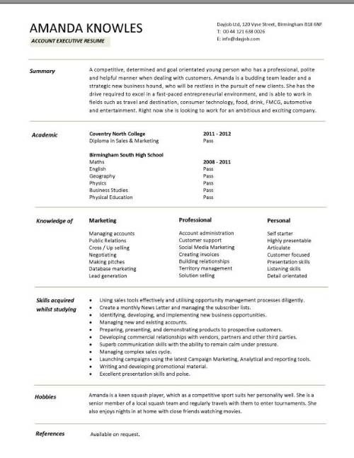 11 best College student resume images on Pinterest Resume format - basic resume templates for high school students
