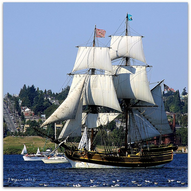 The Washington State legislature designated the Lady Washington (aka the HMS Interceptor from Pirates of the Caribbean: Curse of the Black Pearl) as the official ship of the state of Washington in 2007. Built over a two-year period and launched on March 7, 1989, the ship was built in Aberdeen by the Grays Harbor Historical Seaport Authority. Master shipwrights from all over the Pacific Northwest constructed her near the confluence of the Wishkah and Chehalis rivers. The Lady Washington is…
