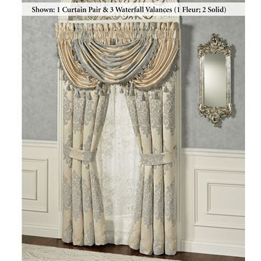 Windsor Waterfall Valance Window Treatment by J Queen New York