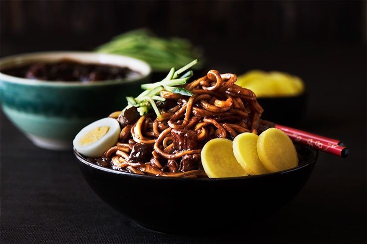 204 best korean food images on pinterest korean recipes cooking korean black bean noodles forumfinder Images