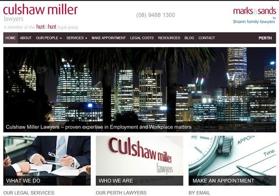 A new website for Culshaw Miller Lawyers who have offices in Perth and Adelaide, Australia. View more here > http://www.culshawmiller.com.au