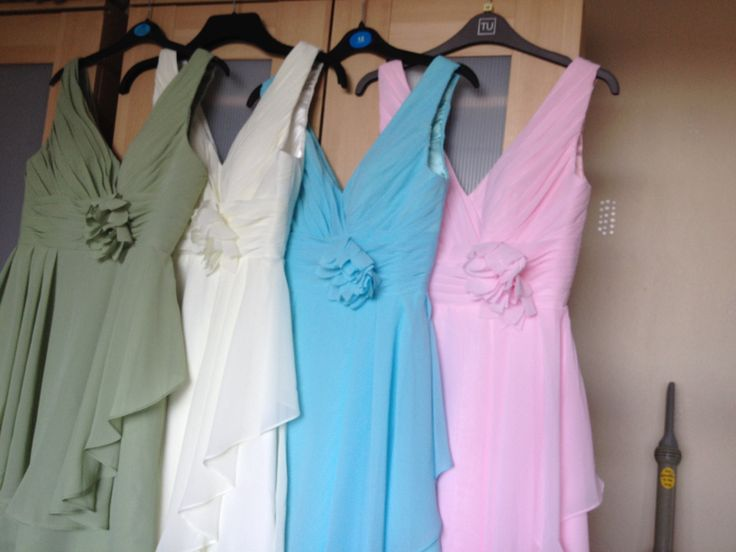 Actual bridesmaid dresses