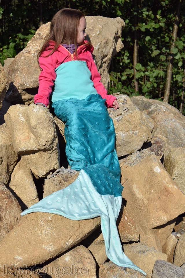 Meerjungfrau, Flosse, Decke, Meerjungfrau-Decke, Schnittmuster, Anleitung, Nähen, Weihnachten, Geschenk, Schnittmuster, nähanleitung, mermaid