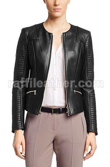 Jaket Kulit » Jaket Kulit Wanita RFW 118 • www.raffileather.com Jual Jaket Kulit Asli Garut Murah dan Berkualitas #jaketkulit