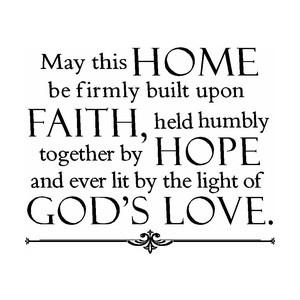 Faith.: Ideas, Signs, Vinyls, Houses, God Love, Wall Quotes, Faith Hope Love, God Wordstolivebyquotessay, Families
