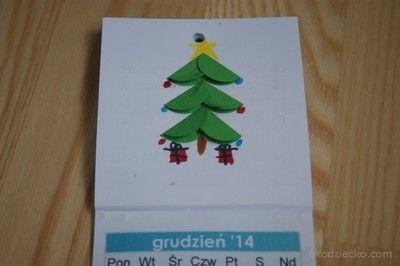 Choinka origami z kółka. Origami Christmas tree rings.