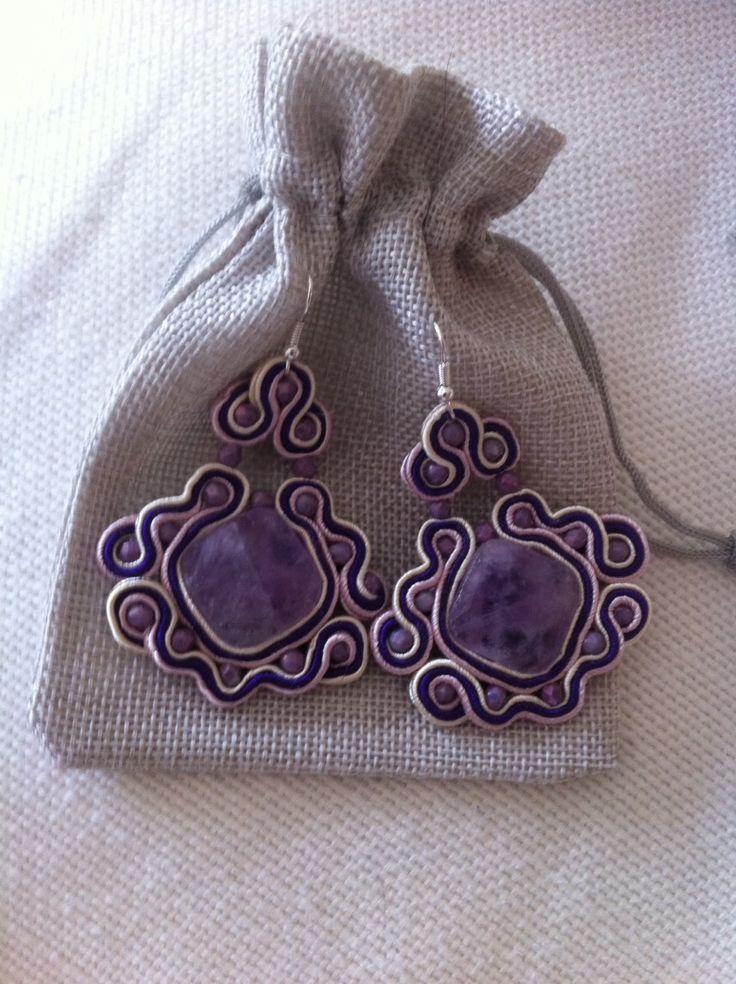Soutache Earrings made in Italy di HugsItaly su Etsy