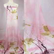 NEUE Ankunft Druck Super Dünne Chiffon Stoff Chinesischen Stil Textil Für Kleid Tuch Schal Material. D294(China (Mainland))