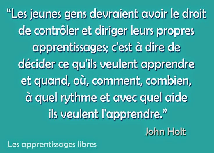 Les apprentissages Libres