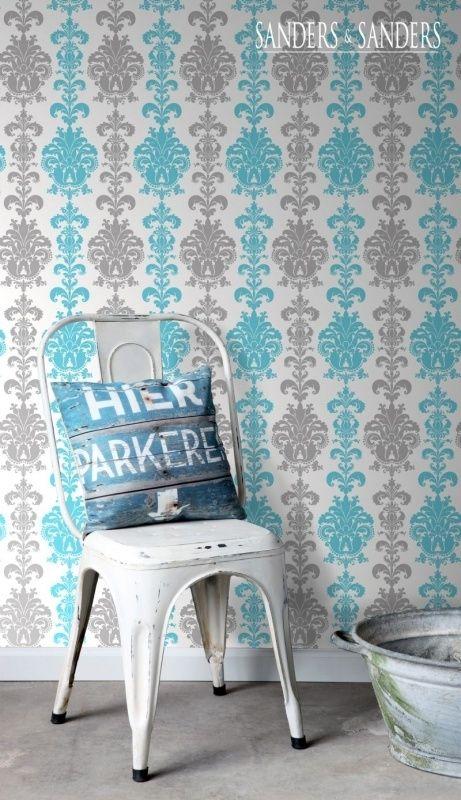 Meer dan 1000 idee n over woonkamer behang op pinterest kamer behang damast muur en huiskamer - Wallpaper volwassen kamer trendy ...