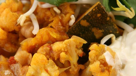 Chickpea and Cauliflower Curry by Janella Purcell via Good Chef Bad Chef