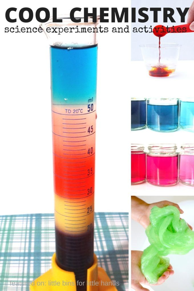 Chemistry activities and experiments for kids that you can definitely try at home or in the classroom. A fun collection of more than 30 cool chemistry experiments that will encourage a love of science. make solutions, explore solubility, grow crystals, make slime and potions, bounce eggs, and more! Cool kids chemistry activities for preschool, kindergarten, and earl elementary age kids.